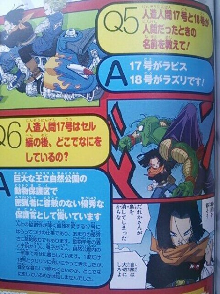 Dragon Ball nombres androides 17 18