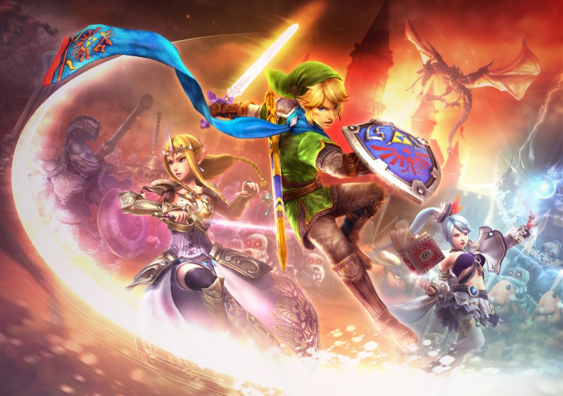 Hyrule Warriors illustration 2 800x563 Hyrule Warriors muestra tráilers de Link, Zelda e Impa con distintas armas