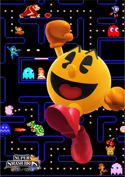 Pac Man Super Smash Bros 3DS Wii U 01