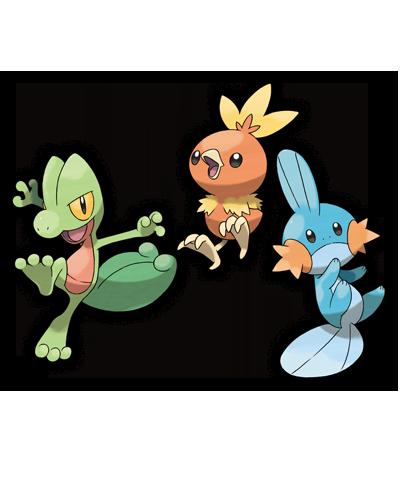 Pokemon Rubi Omega Zafiro Alfa starters 01