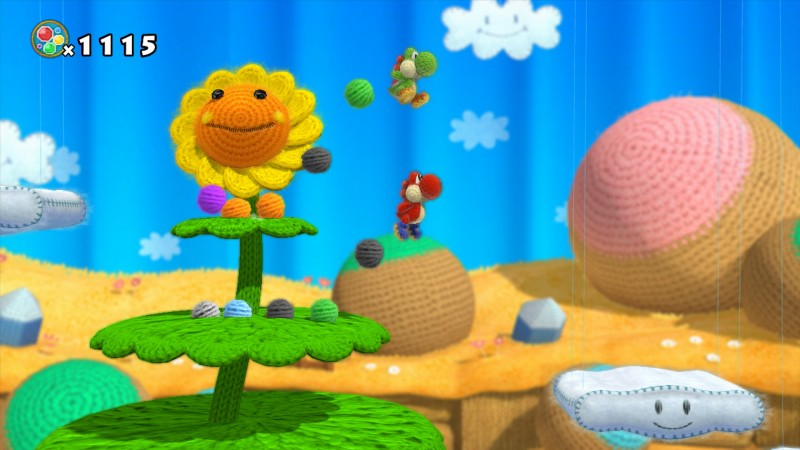 Yoshi Wooly World E3 2014 06 800x450 Gameplay de Yoshis Wooly World para Wii U