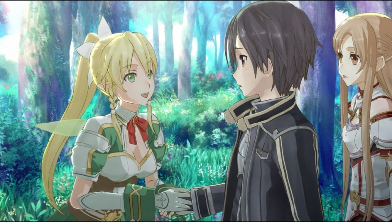 Sword Art Online Hollow Fragment scene