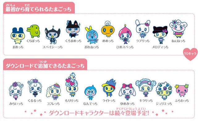 Tamagotchi-4U-personajes
