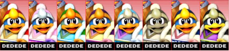 Dedede Palette Super Smash Bros 3DS