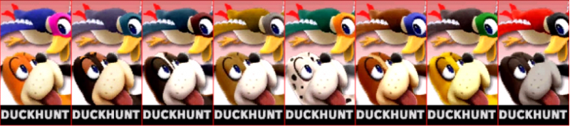 Duck Hunt Palette Super Smash Bros 3DS