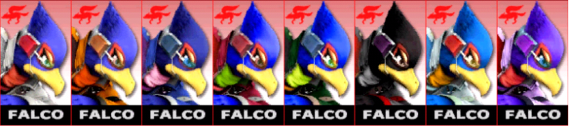Falco Palette Super Smash Bros 3DS