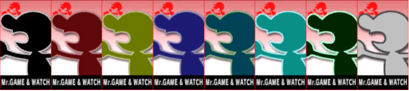 Game Watch Palette Super Smash Bros 3DS
