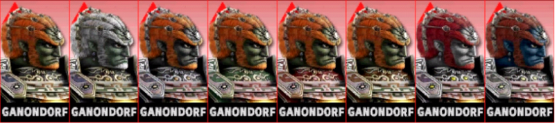 Ganondorf Palette Super Smash Bros 3DS