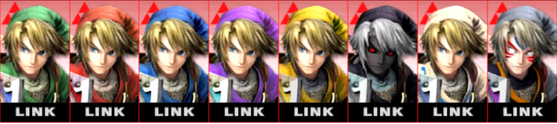 Link Palette Super Smash Bros 3DS