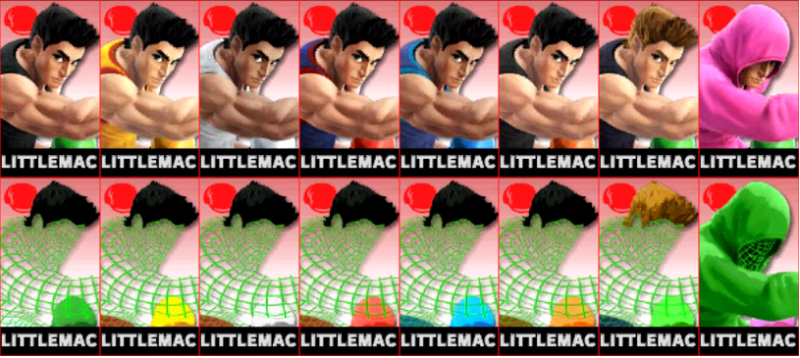 Little Mac Palette Super Smash Bros 3DS