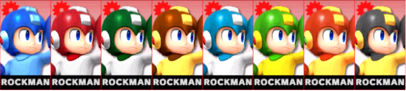 Mega Man Palette Super Smash Bros 3DS