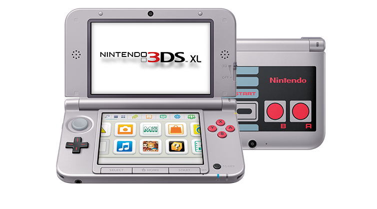 Nintendo 3DS XL NES open