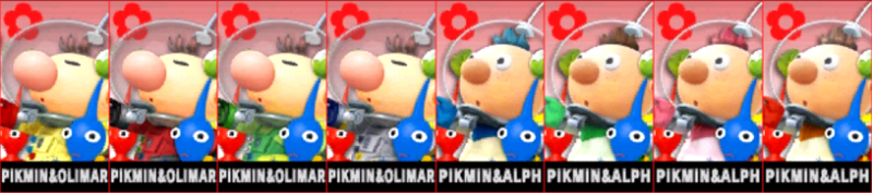 Olimar Alph Palette Super Smash Bros 3DS
