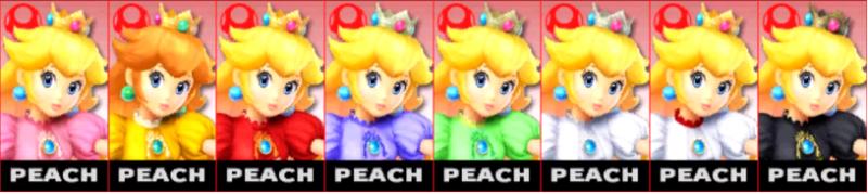Peach Palette Super Smash Bros 3DS