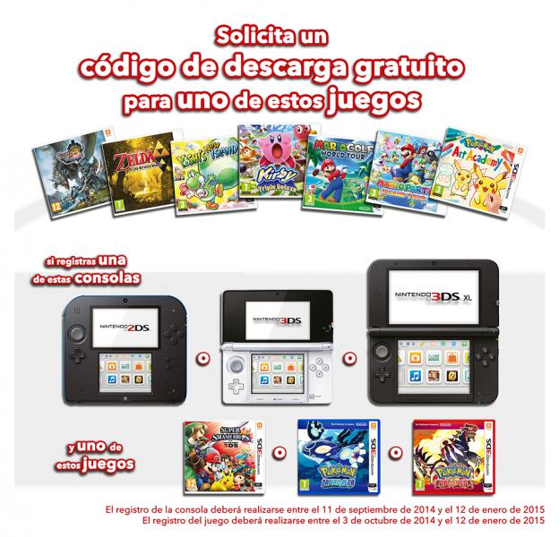 Promocion juegos gratis 3ds