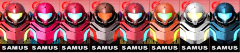 Samus Palette Super Smash Bros 3DS
