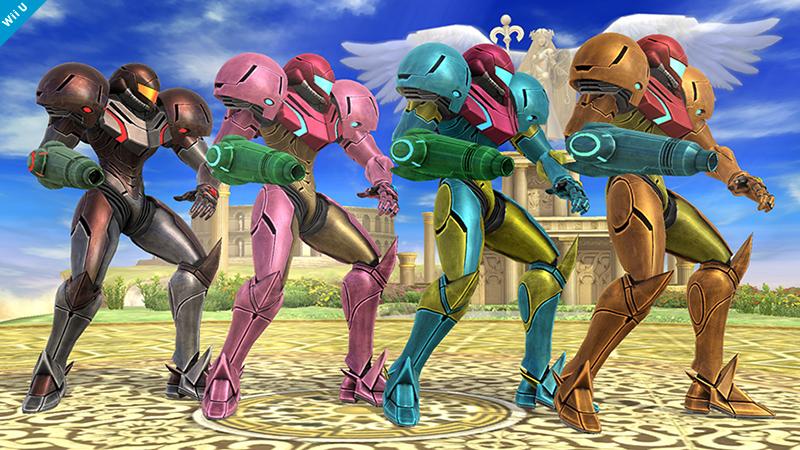 Samus Smash Bros 3DS WIi U colours 01