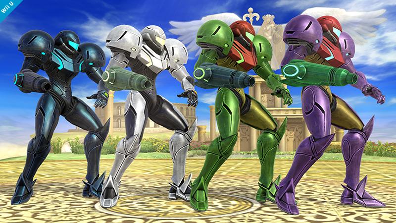 Samus Smash Bros 3DS WIi U colours 02