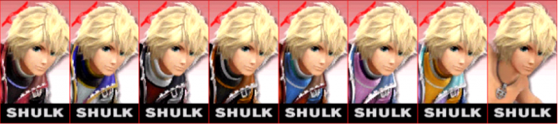 Shulk Palette Super Smash Bros 3DS