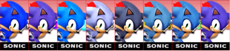 Sonic Palette Super Smash Bros 3DS