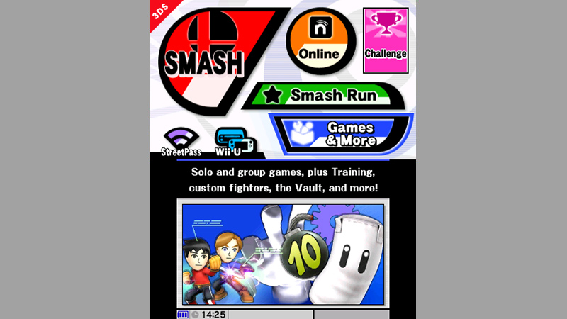 Super Smash Bros 3DS Menu 01