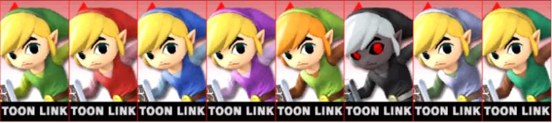Toon Link Palette Super Smash Bros 3DS