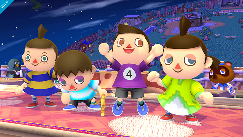 Villager Smash Bros 3DS WIi U colours