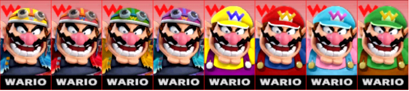 Wario Palette Super Smash Bros 3DS