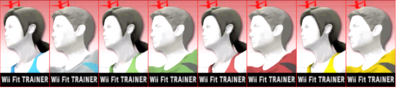 Wii Fit Palette Super Smash Bros 3DS