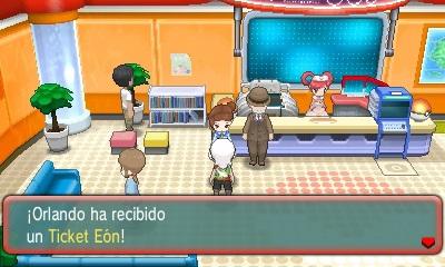 Ticket Eon Pokemon Rubi Omega Zafiro Alfa 17