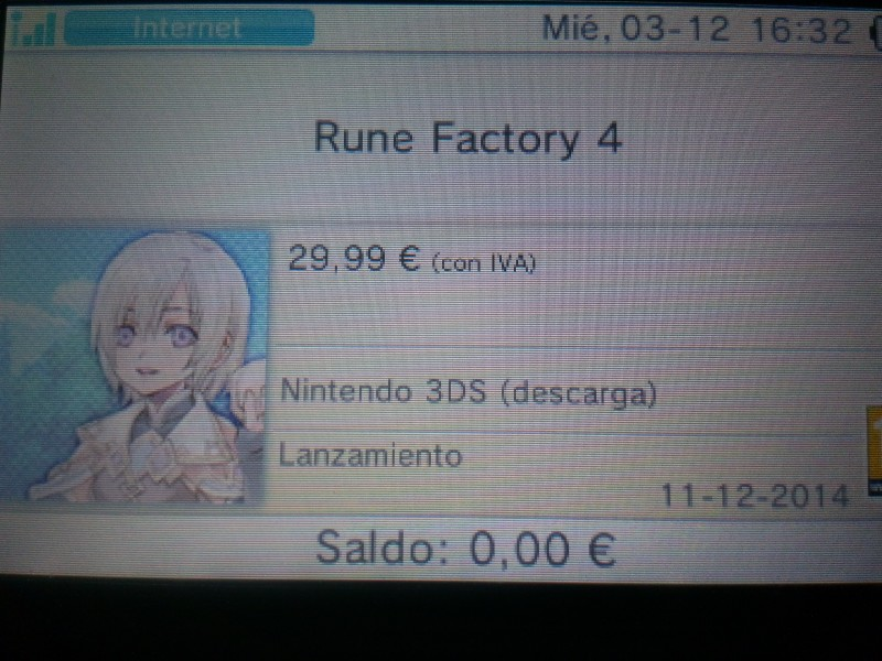 Rune Factory 4 fecha europa