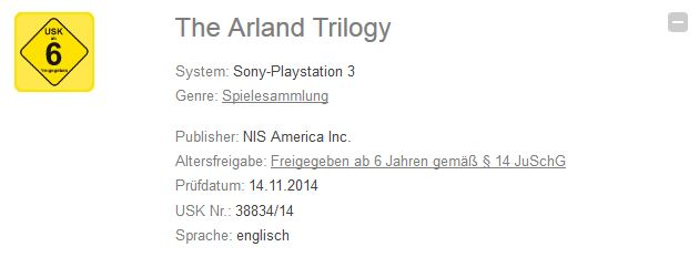 The Arland Trilogy trademark
