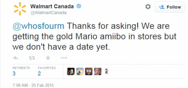 ¡Gracias por preguntar! ¡Tendremos el amiibo de Mario dorado, pero aún no hay fecha!