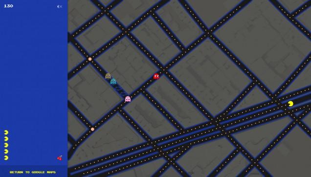 Pac-Man-Google-Maps