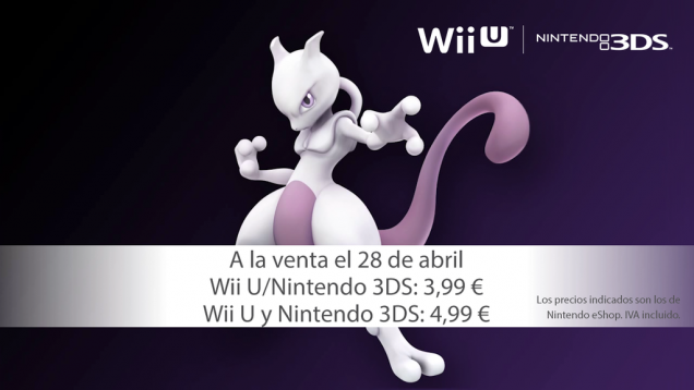 Mewtwo DLC Smash Bros