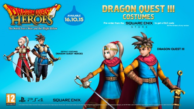 Dragon Quest Heroes trajes DQIII