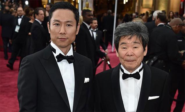 Yoshiaki Nishimura junto a Takahata en la pasada edición de los Oscar