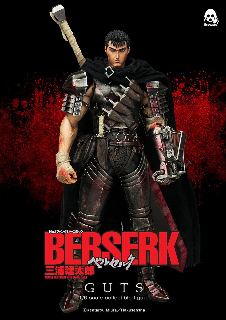 Figura de Guts, Berserk, por Three Zero