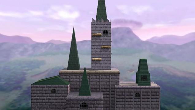 Castillo Hyrule 64 de Super Smash Bros 3DS y Wii U