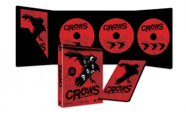 Crows La Trilogía en Blu-ray, por Mediatres Estudio