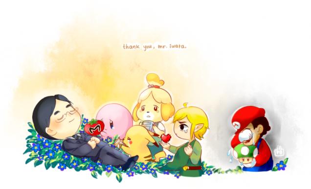 Fanart de Satoru Iwata tras su fallecimiento