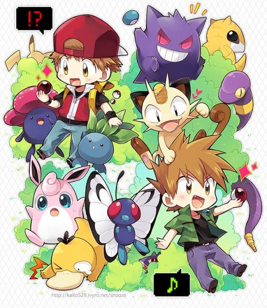 Pokemon-Red-Green-fanart