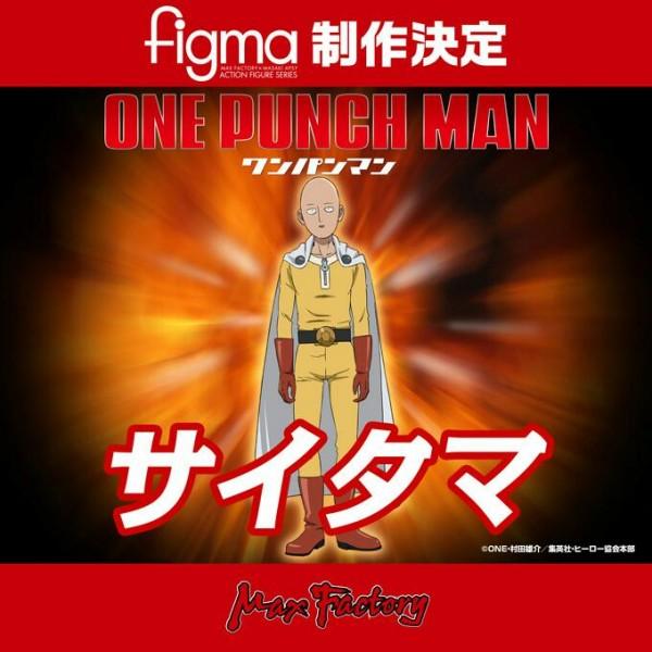 Saitama One Punch man figma announcement
