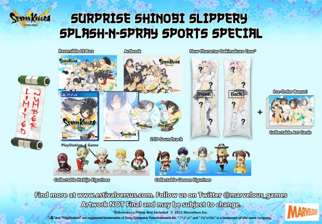 Senran Kagura Estival Versus Surprise Shinobi Slippery Splash n Spray Sports Special Edition PS4