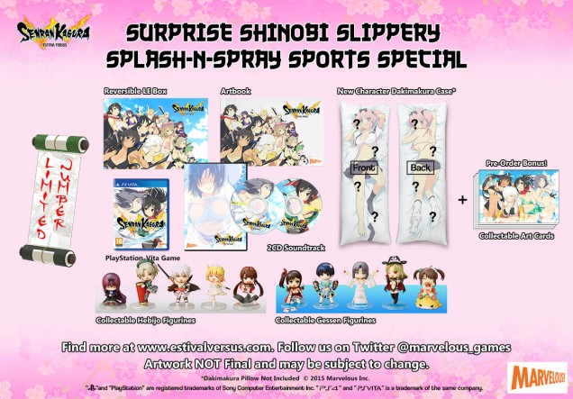 Senran Kagura Estival Versus Surprise Shinobi Slippery Splash n Spray Sports Special Edition Vita