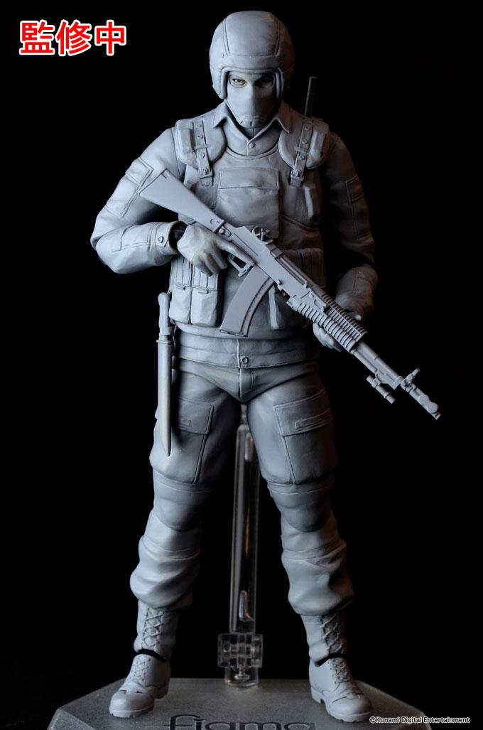 Figma de soldado Gurlukovich, prototipo sin pintar