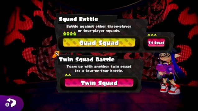 Splatoon lobby combate en equipo