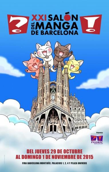 XXI Salon Manga Barcelona cartel