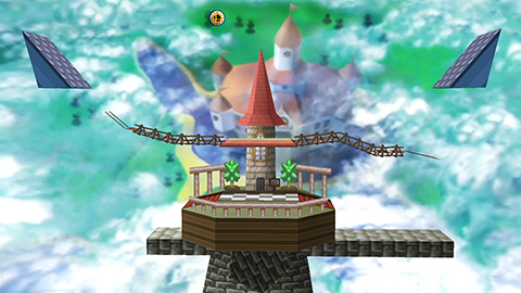 castillo peach 64 smash bros