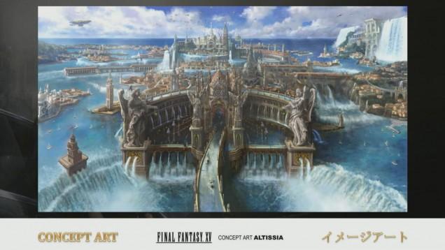 Arte conceptual del Altissia en Final Fantasy XV